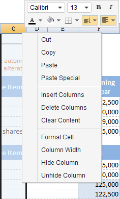 ZKSsEss Spreadsheet Toolbar columnContextMenu.png