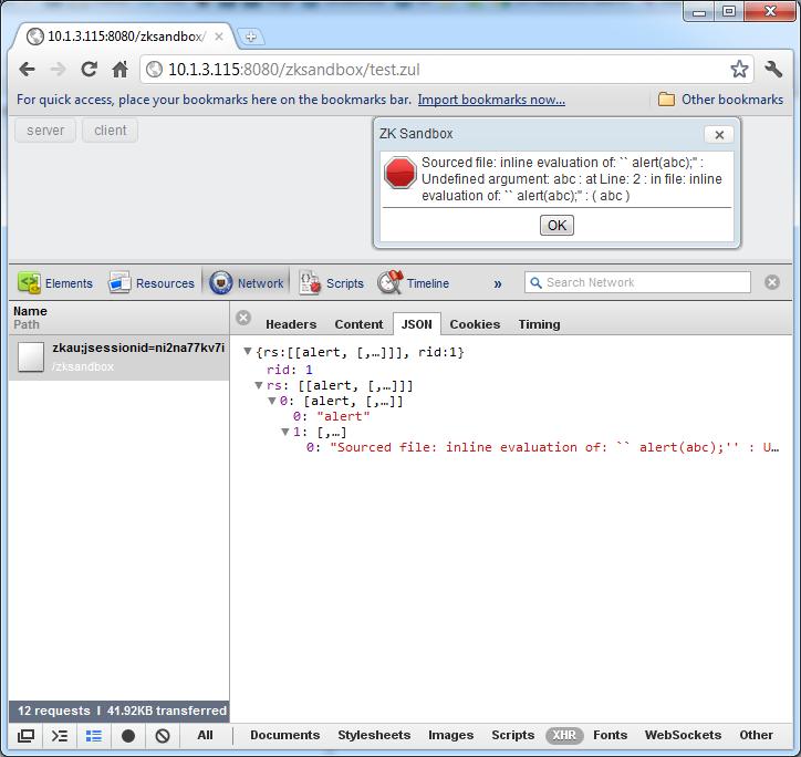 ZK - User:Jimmyshiau/Debug Client Error - Documentation